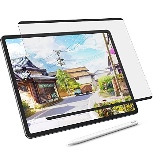 NIMASO ペーパー 紙 ライク フィルム 着脱式 iPad Pro 11 (2021/2020/2018) / iPad Air4 用 保護フィルム ケント紙 タイプ アンチグレア 反射低減 装着し放題 浮き沈み無し NTB21G263
