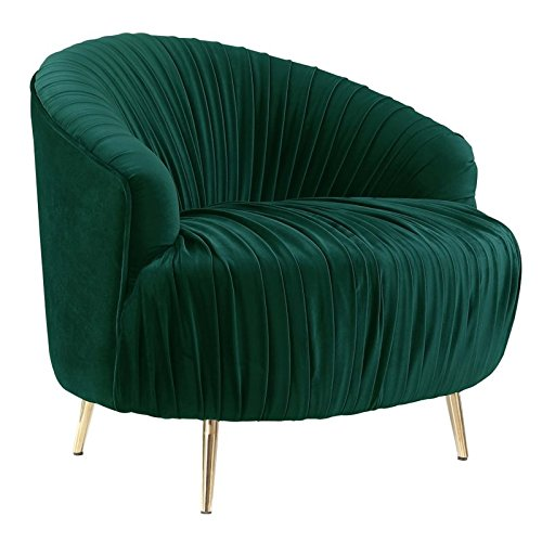 Picket House Furnishings Penelope Ruched Accent Chair in Emerald
