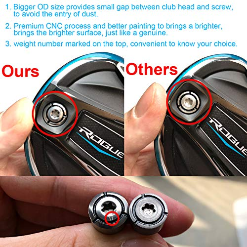 1 Piece Custom Golf Driver Weight Compatible with Callaway Rogue GBB Epic SUB Zero Draw Fade Driver Fairway Clubs Heads 3/5/7/9/11/13/15/17g Available