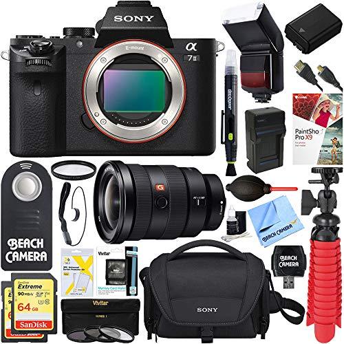 Sony Alpha a7 II Mirrorless Digital Camera + FE 16-35mm Wide-Angle Zoom Lens & Accessory Bundle