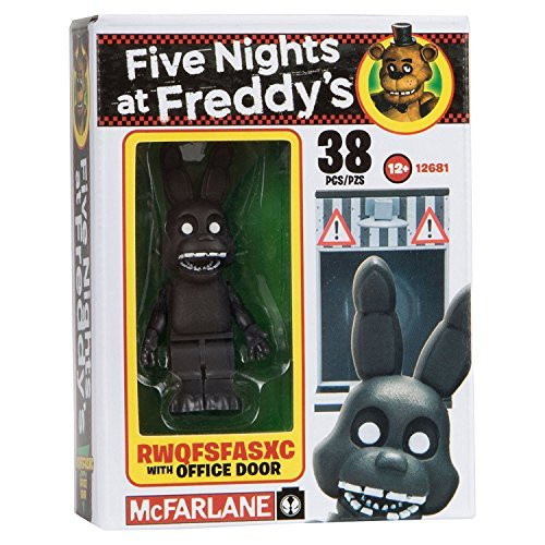 NEW! Five Nights at Freddy's Construction Set - RWQFSFASXC With Office Door - 38 Pieces