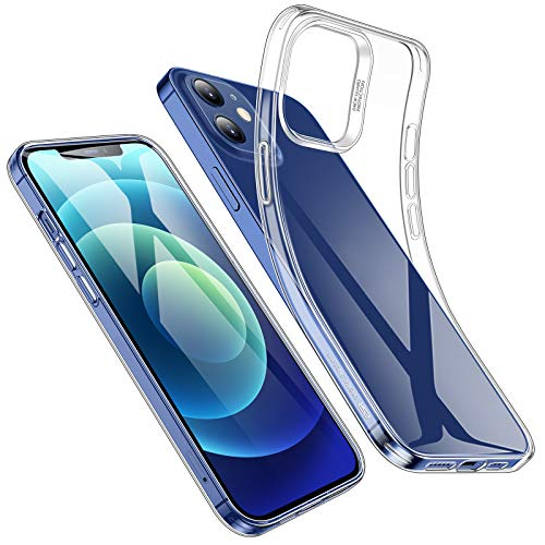 ESR Funda TPU Compatible con iPhone 12, Compatible con iPhone 12 Pro 2020 de 6.1 Pulgadas,Transparente