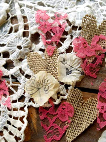 Rustic Vintage Wedding Decorations Burlap And Lace Centerpieces for Table Coral Table Runner Confetti