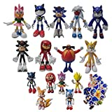 XIANGA Figura Grande de Sonic Regalos de Sonic Sonic Super Sonic The Hedgehog Regalos Juguetes Sonic...