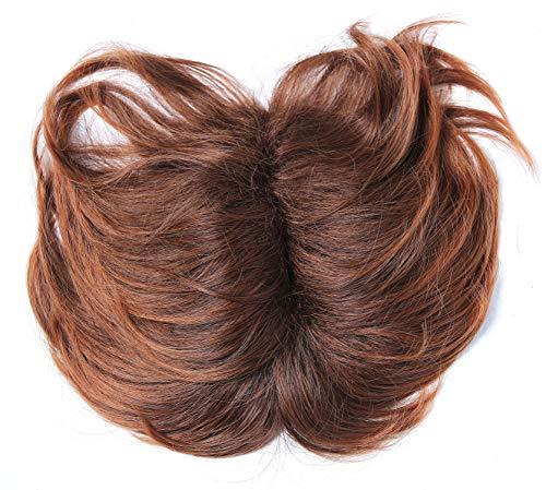 WIG ME UP-TYP-432-10BTM30 Toupet Rinfoltimento capelli Parte alta testa Clip castano Bruno rossiccio Mèches Donna Uomo