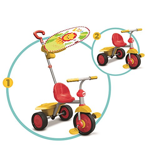 Fisher Price - Fp3300133 - Tricycle - Smart Trike Glee Plus - Rouge/Blanc/Jaune