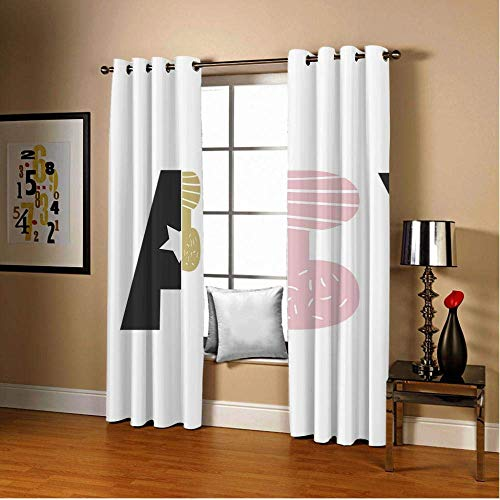 curtain Eyelet, Net Blackout Pencil Pleat Animal Head Thermal Insulated Anti UV Eyelet for Bedroom Livingroom Children's Room (Size : 46'' Width x 72'' Drop)