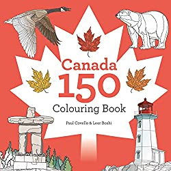 canada 150 colouring book by paul covello