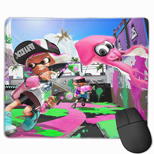 Funny Spla-toon Gaming Mouse Pad Professional Computer Mousepad Non-Slip Rubber Mouse Mat for Home Office