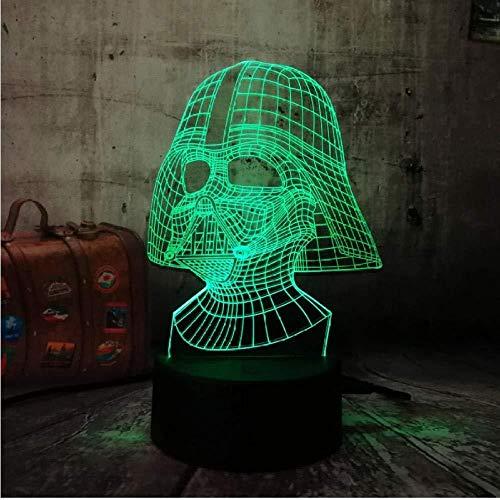 Alien Kopf 3D LED 7 Farbe Schlaf Nachtlicht Touch Tischlampe Kind Geburtstag Weihnachtsgeschenk Schlafzimmer Dekoration