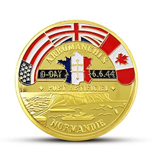 valungtung Monedas Conmemorativas Medalla Conmemorativa De La Campaña De Desembarco De Normandía 6 De Junio De 1944 Operación Overlord, Moneda Militar De La Segunda Guerra Mundial