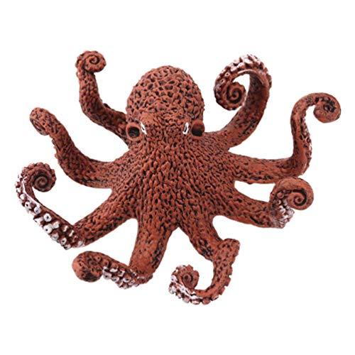 TOYANDONA Miniatuur Octopus Beeldjes Ornamenten Dieren in Het Wild Model Versieringen Zee Oceaan Feestartikelen Voor Aquarium Fee Tuintafel Home Decoraties