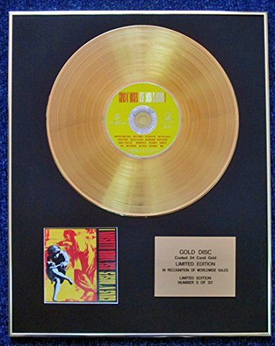 Century Presentations Guns N' Roses – Limited Edition CD 24 Karat Gold beschichtet LP Disc – Illusion 1