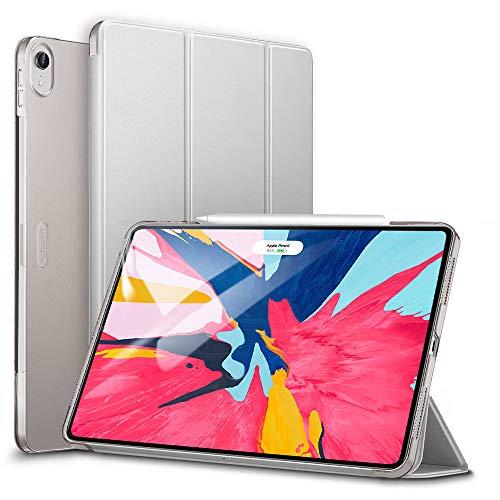 ESR Hülle für iPad Pro 12,9 2018, Ultra Dünn Smart Case Cover Automatische Ruhe-/Aufwachfunktion Schutzhülle mit Rückseite für Apple iPad Pro 12.9 2018 (Kompatibel mit Apple Pencil) - Grey