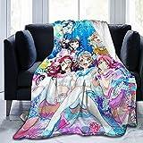 Love Live! Sunshine!! - Cobija de franela para acuario Koi ni Naritai para todas las estaciones, manta cálida de 152 x 127 cm