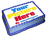 Custom Cake Image Personalized Cake Toppers 1/4 8 x 11 Inches Birthday Cake Topper
