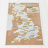 UK Breweries Collect and Scratch Off Travel Map –– Great Gift for Beer Lovers - 29 x 42cm