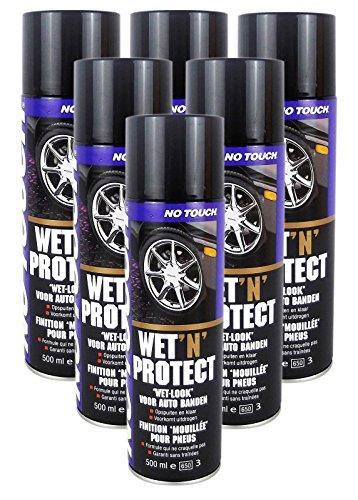 6 Stück No Touch Wet`n Protect 500 ML Reifenglanz