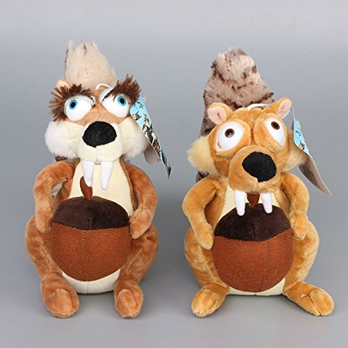Ice Age III Plush 7.9' / 20cm Squirrels 2pcs Set Doll Stuffed Animals Figure Soft Anime Collection Toy