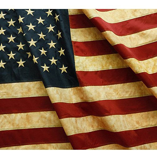 Anley Vintage Style Tea Stained American US Flag 3x5 Foot (90 X 150cm)...
