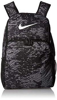 NIKE Brasilia XLarge Backpack 9.0 All Over Print Black/Black/White Misc