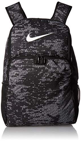 NIKE Brasilia XLarge Backpack 9.0 All Over Print, Black/Black/White, Misc