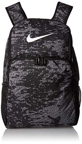 NIKE Brasilia XLarge Backpack 9.0 All Over Print, Black/Black/White,...