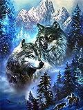 Rompecabezas De 1000 Piezas,Serie De Animales Wolf On Snow Mountain Wooden Family Puzzle Set, Desafío Cerebral Para Niños Jigsaw Games, Rompecabezas Intelectuales De Educación Padre-Hijo, Decoraci