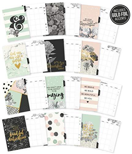 Unbekannt Simple Stories 7954 Carpe Diem schöne doppelseitige Planer-Einsätze, Papier, Mehrfarbig, 22.4 x 16 x 0.6 cm
