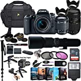 Canon EOS 77D DSLR Camera with 18-55mm Lens, Tamron 70-300mm & 500mm Preset Lens + 5 Photo/Video Editing Software Package & Professional Accessory Kit (Renewed)
