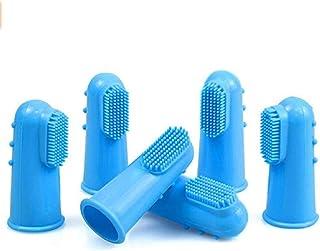 ペット用指歯ブラシ 6個セット ソフトブラシ イボイボ付き シリコン製 ブラッシングで口腔ケア 犬用猫用歯ブラシ 歯磨き (6セット)