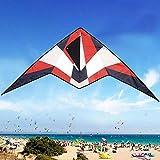 Armor Triangle Kite Juguetes de Vuelo al Aire Libre para niños Triángulo de Cola Larga Cometas de poliéster con Barra de Control y línea de 30 m