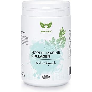 NaturaForte Idrolizzato di Collagene Marino (Merluzzo) 300g, Peptidi di Collagene, Polvere da cattura selvatica naturale, Sollevare la bevanda, Ipoallergenico, Tipo I e Tipo II