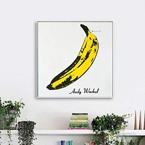 adgkitb canvas Foto di Banane su Tela Immagini di pareti Classiche per Arredamento Soggiorno 50x50 cm Senza Cornice