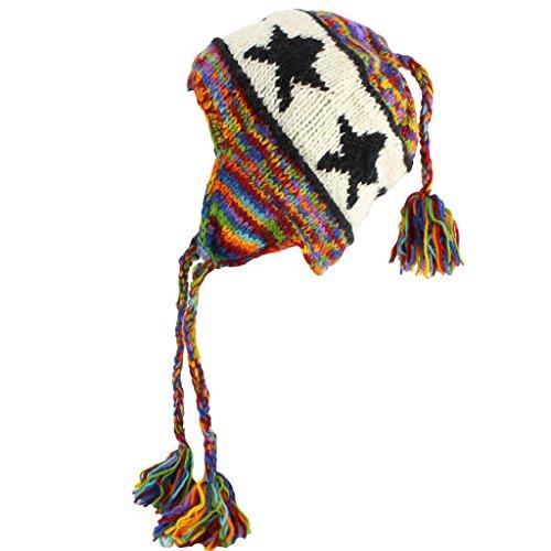 Loud Hats - Bonnet - Bonnet - Homme RAINBOW & BLACK STAR Taille Unique