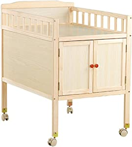 HCH Changing Tables Baby diaper table Baby massage table Cabinet baby wash massage diaper table  simple solid wood multifunctional storage table