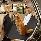 poppypet Hundedecke Auto, Auto Hundedecke, Autoschondecke mit Seitenschutz, Wasserfestes, Schützt Ihre Autositze vor Schmutz und Tierhaaren - Schwarz
