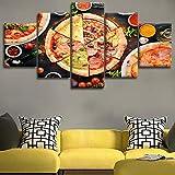 Grabado imagen familia pared arte cartel comida pizza fruta tomate pintura moderna lienzo sala de estar sin marco 40 * 60 40 * 80 40 * 100
