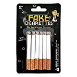 Fake Cigarettes (Pack of 6) - Realistic Movie, Stage & Costume Theatre Props - Harmless Fake Cigs for Dress Up, Halloween, Gangster or White Trash Party - Artificial No Puff Cig for Cigarette Holder