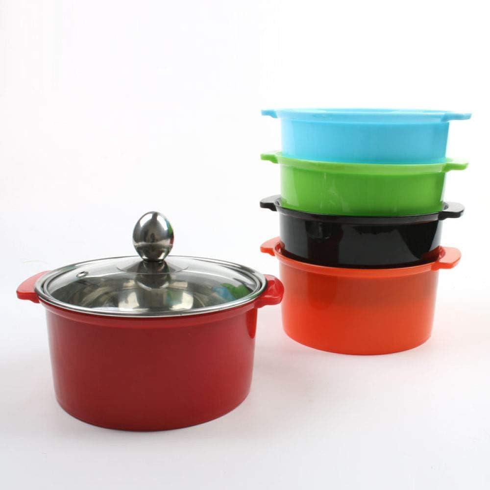 Mini pot de cuisson multifonction de ménage, pot de nouilles de dortoir pour une tasse en acier inoxydable, bleu Rouge