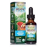 Host Defense, Breathe Extract, Respiratory Support, Mushroom Supplement with Cordyceps, Reishi and Chaga, Vegan, Organic, 1 oz (30 Servings)