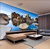Wffmx Papel Pintado De Foto 3D Personalizado Paisaje De La Costa Rocosa Pared Arte Pintura Mural Papel Tapiz Sala De Estar Dormitorio Telón De Fondo Decoración Papel Tapiz-250X175Cm
