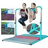 FC FUNCHEER Expandable Gymnastics kip bar with Fiberglass Cross bar,Adjustable arms with ex-Long Base Length,Safe Training for Children
