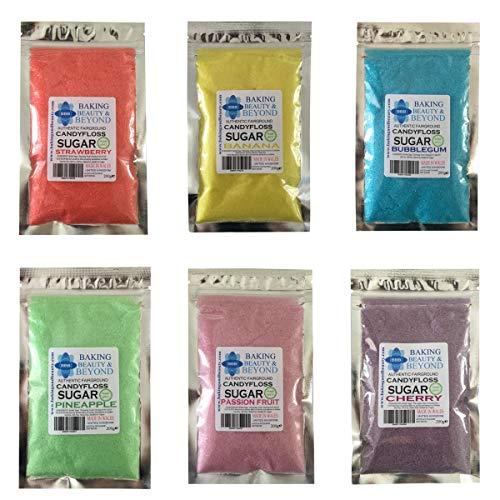 200g Professionele Candy Floss Katoen Candy Suiker in 51 Verschillende smaken (Marshmallow)