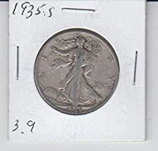 1935 S S Walking Liberty Silver Half Dollar -Circulated- Low Mintage Half Dollar Good