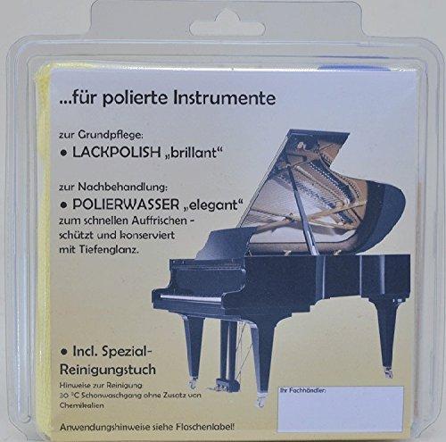 Pflegeset für polierte Piano- Oberflächen, 3-teilig