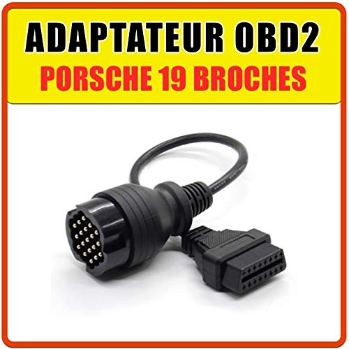 MISTER DIAGNOSTIC Adapter 19 Pin auf OBD2, kompatibel mit Porsche für DurameTRIC