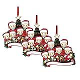 Hunpta Six Survived Families 2020 DIY Personalizado Nombre Bendición Ornamento Decoraciones de Navidad Regalo Árbol de Navidad Colgante con lazo