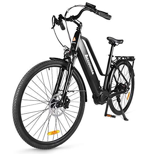Accolmile Bici Elettrica da Città Trekking 28' 700C, 36V 250W Motore BAFANG M200 a coppia media, Batteria Rimovibile agli Ioni di Litio da 15Ah 540Wh, Shimano a 8 velocità, per Adulto Unisex