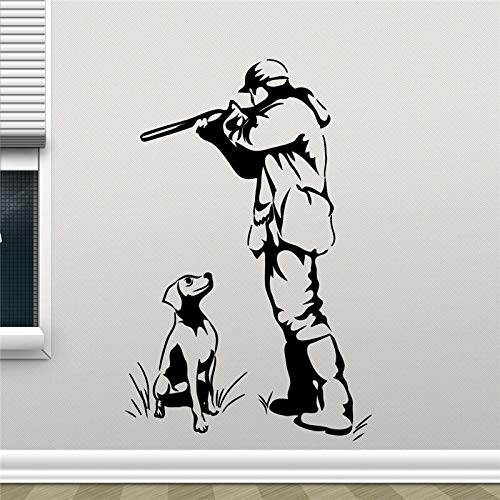 Wild Bird Honting Bullet Gun Hunter Wall Sticker Duck Hunting Dog Hunting Vinyl Sticker Living Room Home Decoration